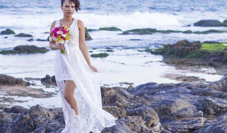 DIY Vestido de noiva para casamento na praia
