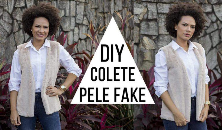 DIY colete de pele fake com Nea Santtana