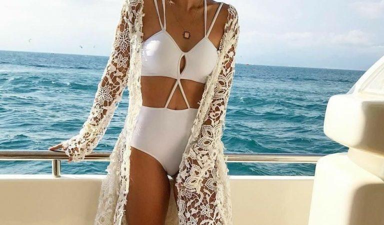 Corte e costura em roupas de praia