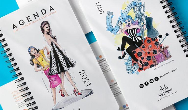 Agenda da Costureira da Maximus Tecidos edição 2021 com Frete Grátis para todo Brasil